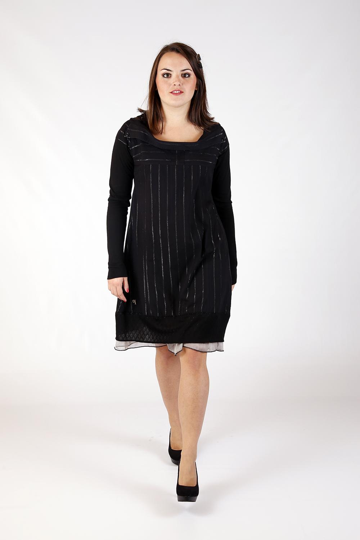 Robe noir rayé argent