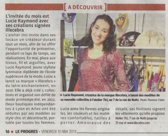 Article de Presse - Le Progrès
