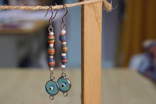 Les Petits Papiers de Sand - Boucles d'oreilles 3 perles