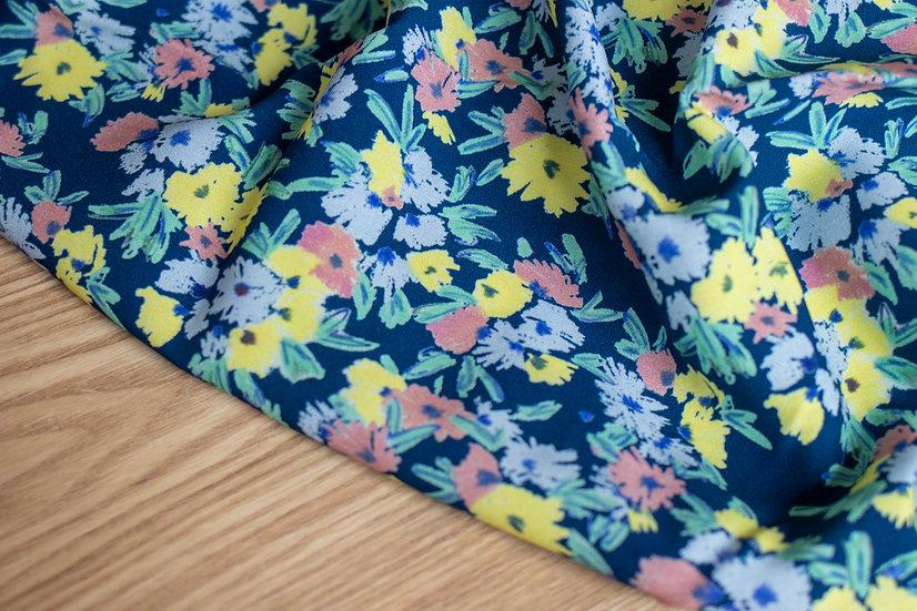 Lise Tailor - Viscose imprimé Blue Garden