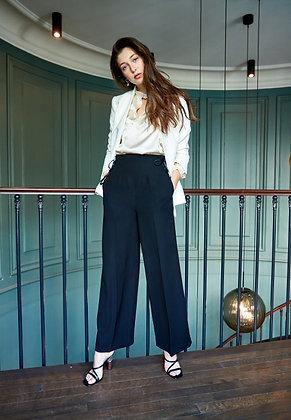 DP Studio - Pantalon droit taille haute
