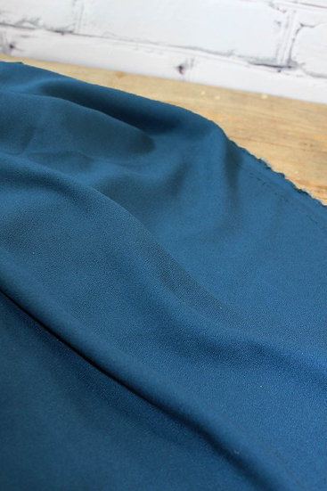 Eglantine et Zoé - Crêpe Uni Bleu Pétrole