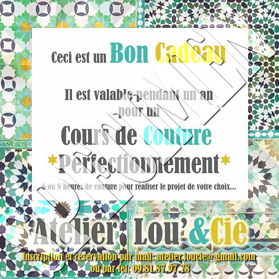Bon Cadeau Cours de Couture 20h - ADULTE
