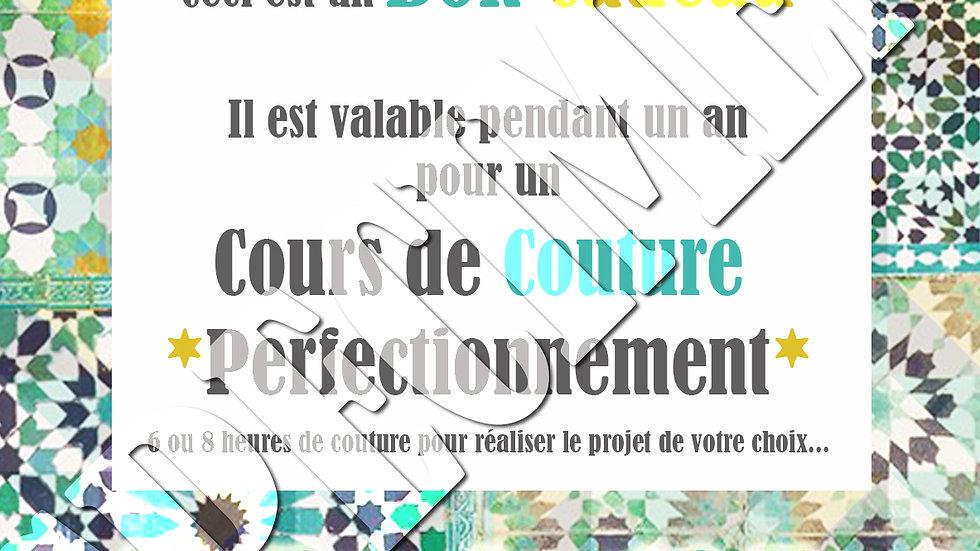 Bon Cadeau Cours de Couture 12h - ADULTE