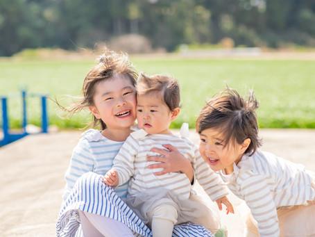 子どもと家族の写真(三重県津市)