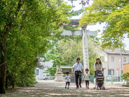 お宮参りの写真(愛知県西尾市)