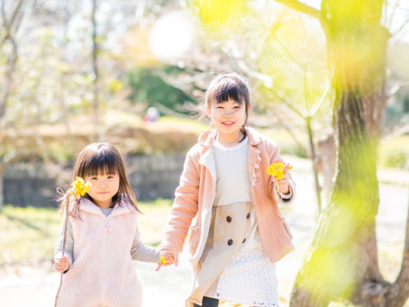 子どもと家族の写真(愛知県西尾市)