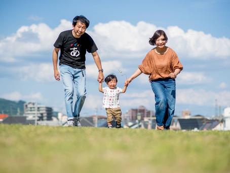 子どもと家族の写真(兵庫県宝塚市)