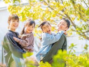 子どもと家族の写真(岡山県倉敷市)