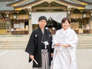 結婚式の写真|福岡県護国神社(福岡市中央区)