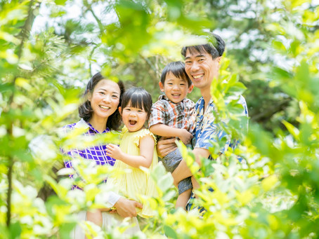 子どもと家族の写真(京都府宮津市)