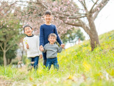 子どもと家族の写真(静岡県焼津市)