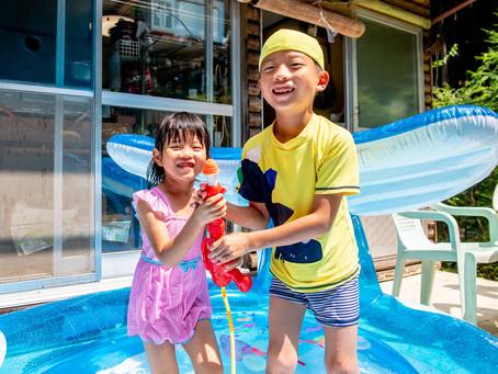 子どもと家族の写真(奈良県宇陀市)