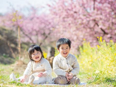 子どもと家族の写真(神奈川県大井町)