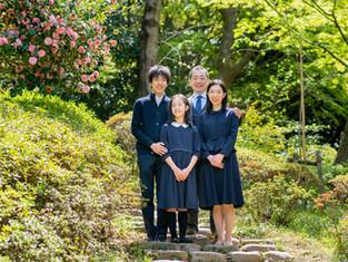 子どもと家族の写真(東京都新宿区)