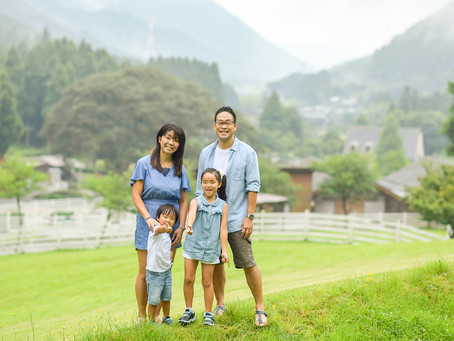 子どもと家族の写真(兵庫県神河町)
