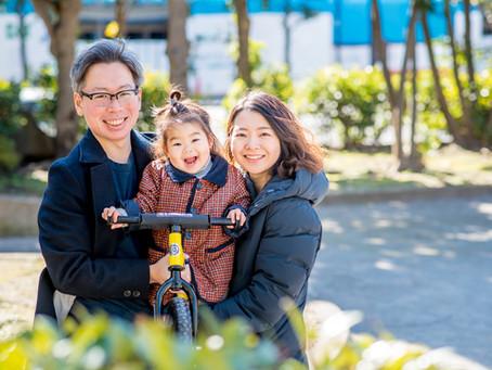 子どもと家族の写真(東京都江東区)