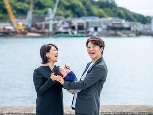 子どもと家族の写真(広島県尾道市)