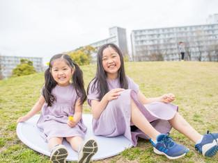 子どもと家族の写真(千葉県浦安市)