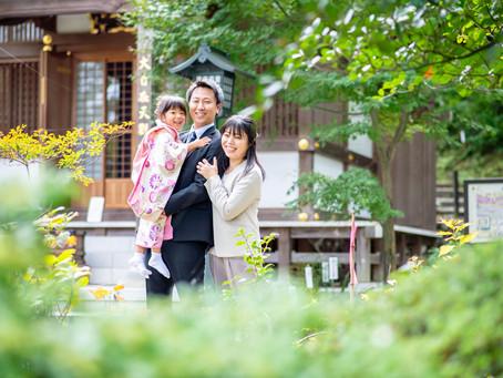 七五三の写真(東京都日野市)