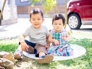 子どもと家族の写真(愛知県扶桑町)