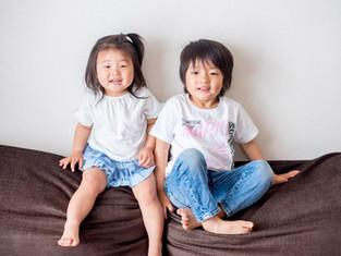 子どもと家族の写真(東京都中央区)