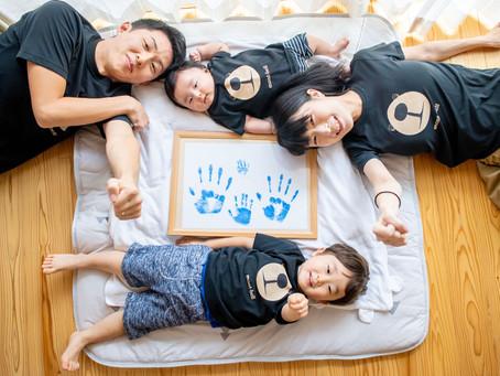 子どもと家族の写真(東京都日野市)