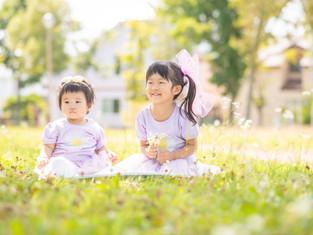 子どもと家族の写真(北海道釧路市)