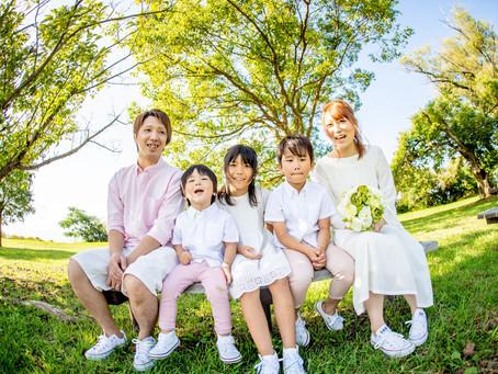 子どもと家族の写真(滋賀県彦根市)