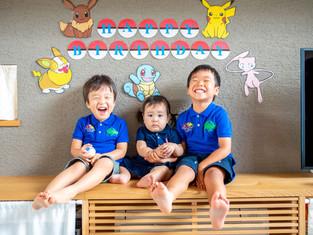 子どもと家族の写真(静岡県藤枝市)