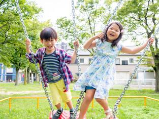 子どもと家族の写真(大阪市北区)