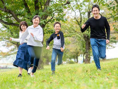 子どもと家族の写真(東京都北区)