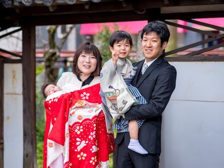 七五三とお宮参りの写真(三重県上野市)