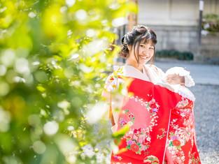 お宮参りの写真(大阪市北区)