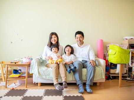 子どもと家族の写真(和歌山県和歌山市)