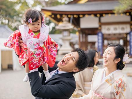 子どもと家族の写真(滋賀県草津市)