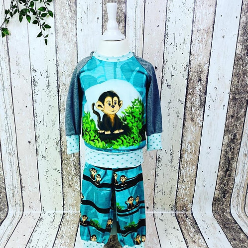 """Pyjama """"Affe"""" Gr. 74-92"""