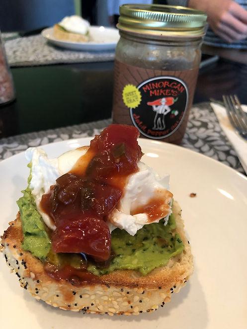 Minorcan Mike Datil Breakast Bagel Pepper Sauce Salsa St Augustine Recipe Cooking
