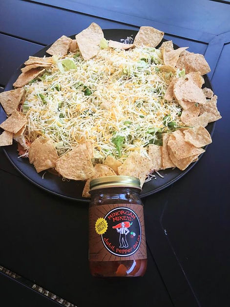 Taco Dip Recipe with Minorcan Mike's Datil Pepper Sauce