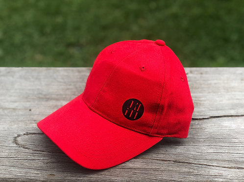 Black on Red Cap