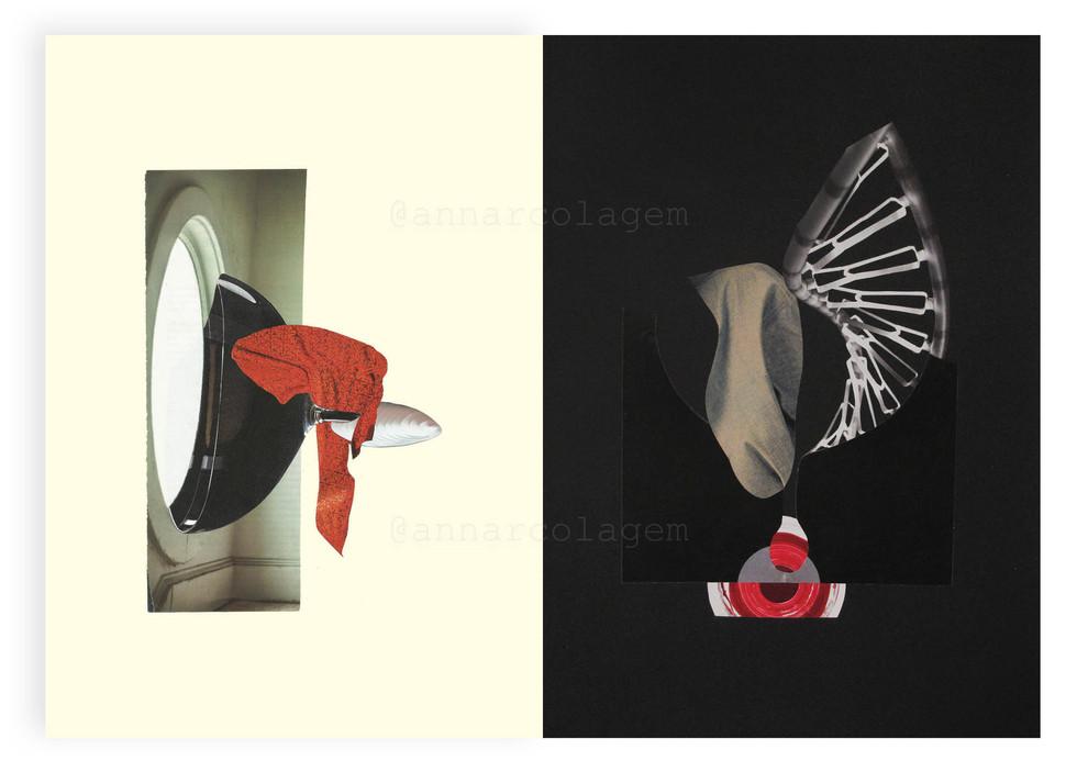 IX - Série Forma-contra-forma, 2020, díptico 42x30cm