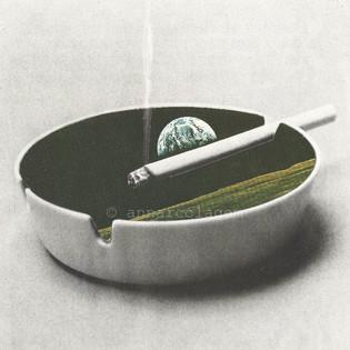Space cigarret, 2018, 18x18cm