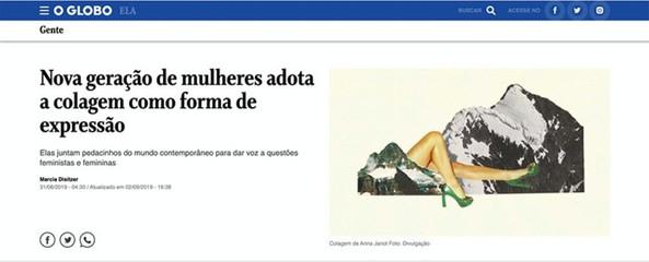 [2019] Revista Ela, O Globo Online - Entrevista coletiva