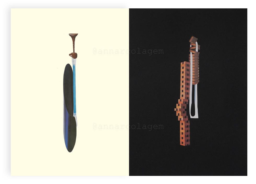 II - Série Forma-contra-forma, 2020, díptico 42x30cm