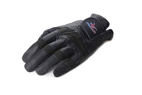 Kangaroo Leather Golf Glove - Black