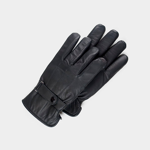 Men's black padded gloves