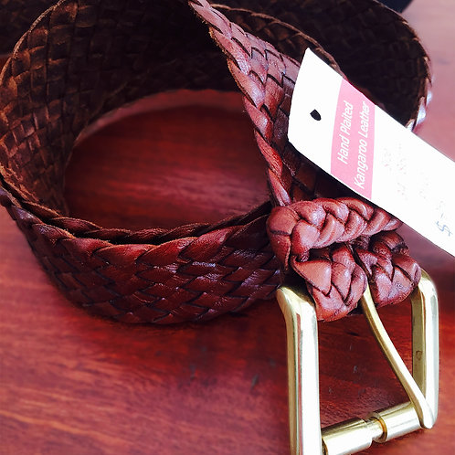 Squatter Kangaroo Leather Belt w/ Gold Buckle