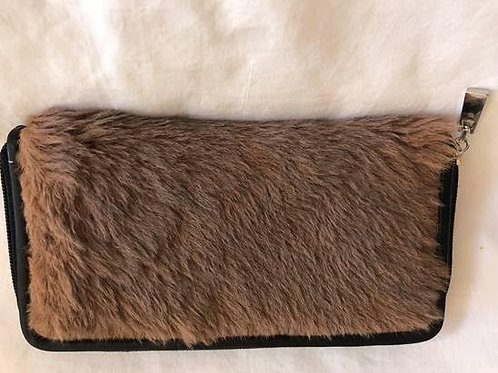 Women's fur clutch