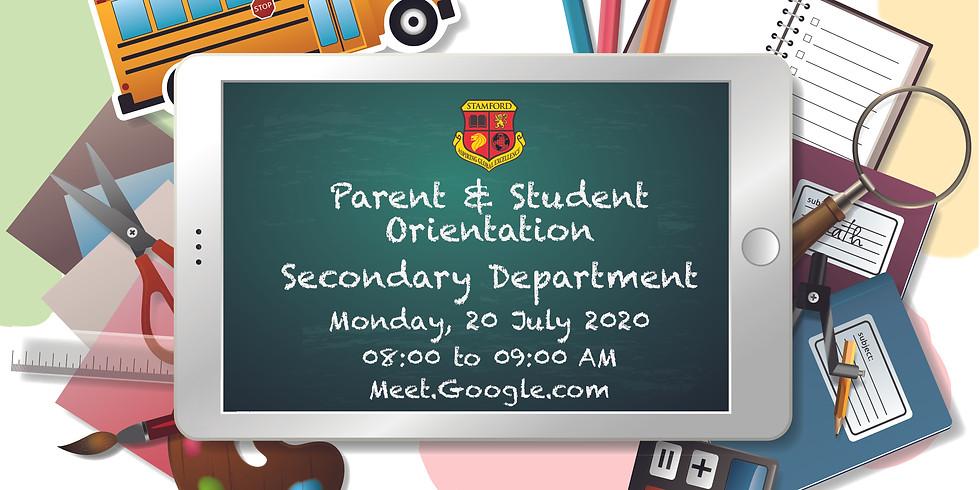 Parent & Student Orientation (Secondary Department)