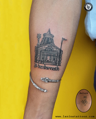 Kedarnath Tattoo| Religious Tattoo | Tattoo Coverup | La Nina Tattoos | Best tattoo studio in ahmedabad| Best tattoo artist | Gujarat | India